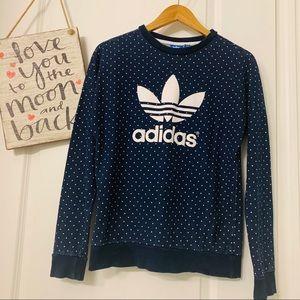 Adidas blue white dots set: sweatershirt  and pant